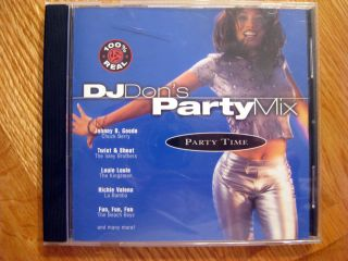 DJ Dons Party Mix Party Time CD Music Wooly Bully Chuck Berry Ritchie