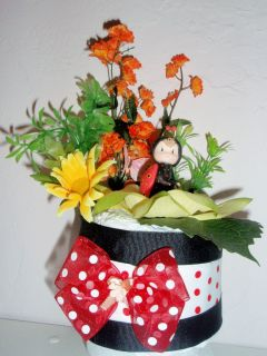 Lady Bug Baby Shower Diaper Cake Centerpiece Gift Favor