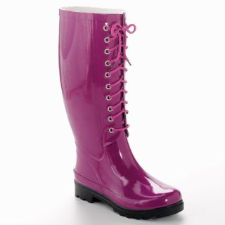 New Aqua Stop Ladies Lace Up Rubber Rain Boot Size 7 M Waterproof