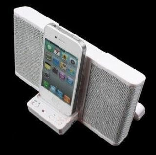 New Dock Station Speaker for iPod Touch iPhone 4 4G 3G White And Black