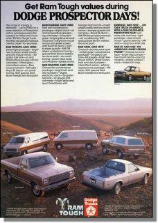 1983 Dodge RAM Tough Trucks Prospector Days Print Ad