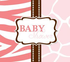 25 Wild Safari Pink Zebra Baby Shower Party Invitations