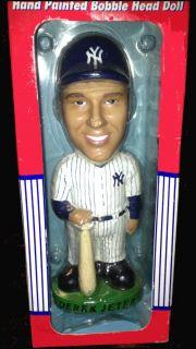DEREK JETER Hand Painted Bobble Dobbles Head Doll New York Yankees NIB