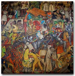 Diego Rivera Mexico Art Tile Ceramic Mural Civilization