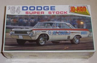 C1960s Jo Han 1964 Dodge Super Stock Model Kit Unopened