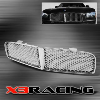 05 10 Dodge Charger SRT 8 Sport Chrome Front Bumper Mesh Grill Grille