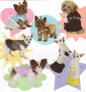 Fab Simplicity Dog Clothes Pattern Shirt Swimsuit Dress