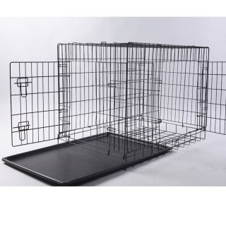 NEPTUNE』30 2 Door Folding Pet Dog Metal Crate Cage Kennel With Feet