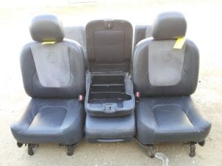 02 05 Dodge RAM Black Leather Suade Seats Dual Powered Seat Front 40