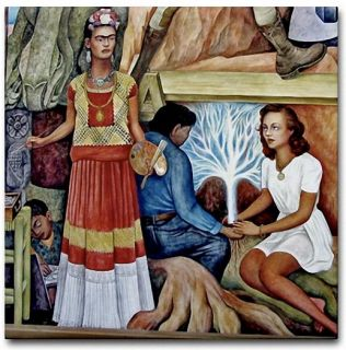 mexican artist diego rivera portrait of frida kahlo