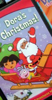 Lot 7 Nick Jr Dora The Explorer Diego DVDs Backpack Boots Fairytale