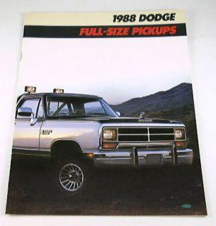 1988 88 Dodge Pickup Truck Brochure D250 D100 W350 RAM