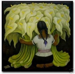 Diego Rivera Mexican Art Ceramic Tile Cala Lily Lilies