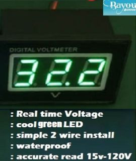 Golf Cart Digital Voltage Meter Battery Gauge 36 48 Volt Club Car EZGO