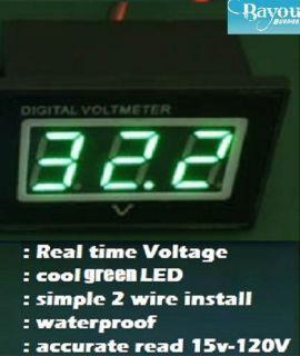 Golf Cart Digital Voltage Meter Battery Gauge 36 48 Volt Club Car EZGO