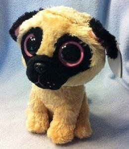 New Ty Beanie Baby PUGSLY the Pug Dog 6 Beanie Boos Boos 2012 Plush
