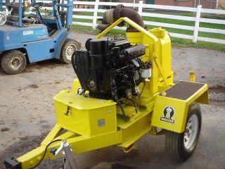 Wacker Trash Pump PT6LJ Water Pump Diesel Engine Trailer Mounted
