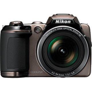 Nikon Coolpix L120 Digital Camera Bronze Refurbished 018208262557