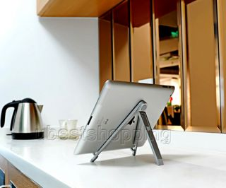Aluminum Silver Desktop Holder Compass Mobile Stand for iPad Galaxy