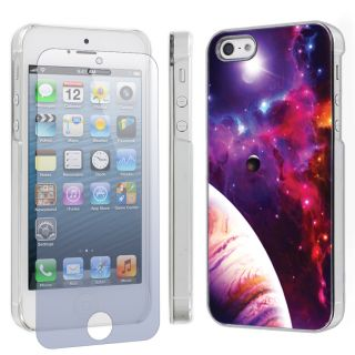 Apple iPhone 5 Hard Cover Case Screen Protector Space