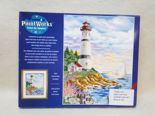 Dimensions NAUTICAL SUNRISE PaintWorks Paint by Number Kit LIGHTHOUSE