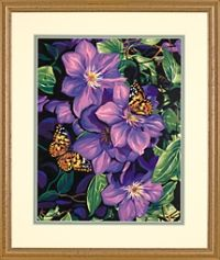 Dimensions Paint by Number Kit 14 x 11 Clematis Butterflies Sale