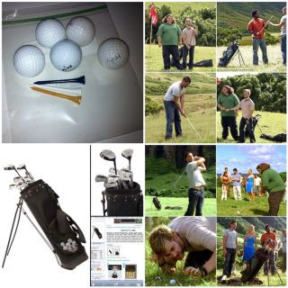 LOST TV SHOW PROP GOLF BALLS TEES From Lost Auction Movie Hurley Jack
