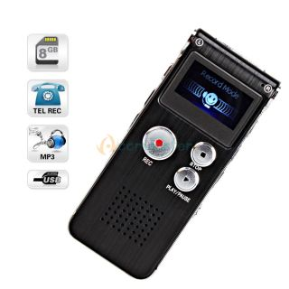 CL R30 650Hr Digital Voice Recorder with U Disk Function Black
