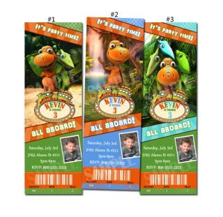 Dinosaur Train Custom Birthday Party Invitation Ticket