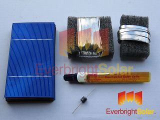 Solar Cells DIY Solar Panel Kit w Wire Flux Diodes Everbright