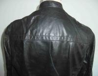 Dirk BIKKEMBERGS Mans Black Distressed Leather Jacket Listed Size 52