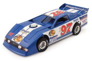 Dirt Late Model Ford GT 500 Race Car Bass Pro Shops 1 24 Diecast