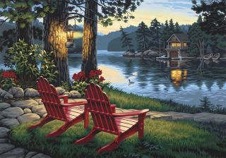 91357 paint by number kit 20 x14 adirondack evening dimensions paint