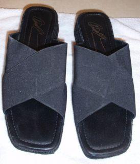 Donald Pliner Yeras Womens Black Wedge Sandal Sz 10B