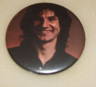 Slade Don Powell Photo Large Vintage Metal Pin Badge from The 1980S