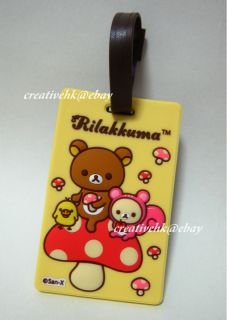 San x Rilakkuma Brown Bear Kiiroitori Chicken Mushroom Yellow Luggage