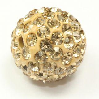Swarovski Crystal Disco Ball Charm Spacer Beads 10mm U Pick Colors and