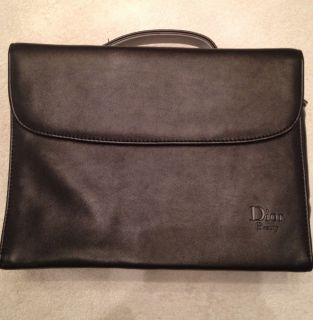 Black Christian Dior Beauty Cosmetic Makeup Bag Train Case with Mirror