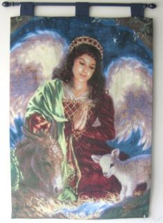 Dona Gelsinger Away in a Manger Christmas Tapestry Wall Hanging Made
