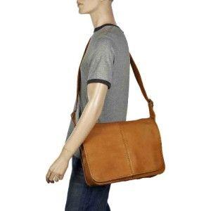 Le Donne Leather Classic Flap Over VAQUETTA Leather Messenger Bag