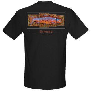 Simms DeYoung Brown Trout 4 Panel SS Shirt Black Medium