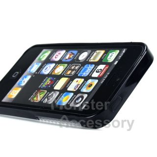 Black Clear Soft Candy Skin TPU Gel Case Cover for Apple iPhone 5