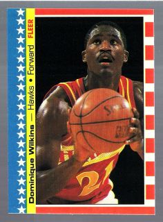 Dominique Wilkins Hawks HOF 1987 88 Fleer Sticker All Star 7 of 11