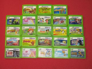 LeapPad Tablet Game Lot Cars Princess Dora Star Wars Spongebob