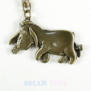 disney winnie the pooh eeyore brass key ring chain