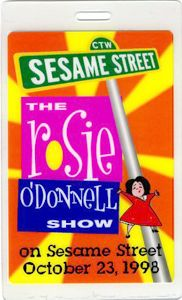 Rosie ODonnell Sesame Street Laminated Backstage Pass