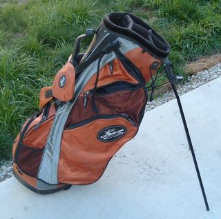 Orange Golf Stand Bag Get Your Rickie Fowler on Double Strap