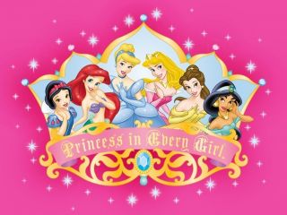 her artwork on the fridge with these adorable Disney Princess magnets