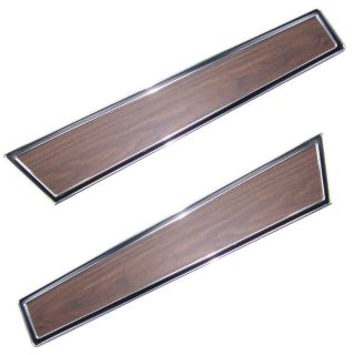 71 73 Mustang Dlx Door Panel Woodgrain Trim Panels PR