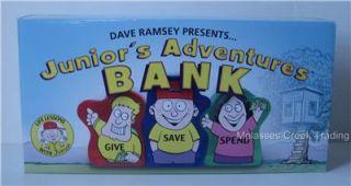 New Dave Ramsey Juniors Adventures Kid Piggy Coin Bank